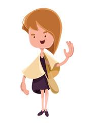 Beautiful girl fallowing fashion  illustration cartoon character