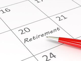 Retirement on calendar date