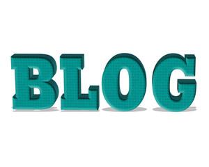 açık mavi renkli 3d blog yazısı