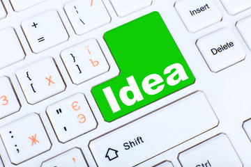 Close up of Idea keyboard button
