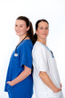 young female doctor and nurse