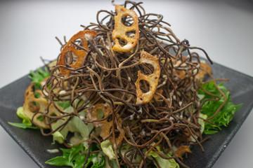 カリカリ蕎麦サラダ
