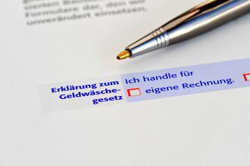 Geldwäschegesetz, Konto, illegal, Mafia, Strohmann, Compliance