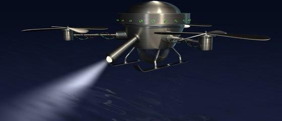 Zoektocht boven water - drone met zoeklicht