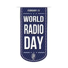 Radio day banner design