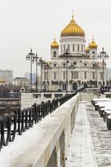 Храм Христа Спасителя, Москва, Россия, зимний вид