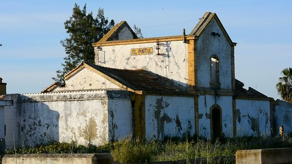 Old abandoned station, Jerez de la Frontera, Cadiz, Spain