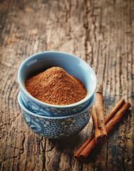 bowl of cinnamon powder