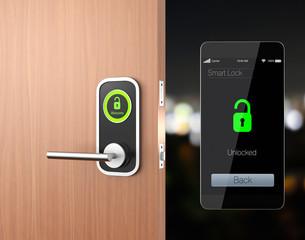 Smart lock concept with clipping path. original design
