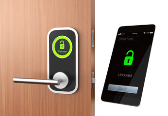 Smart lock concept with clipping path. original design