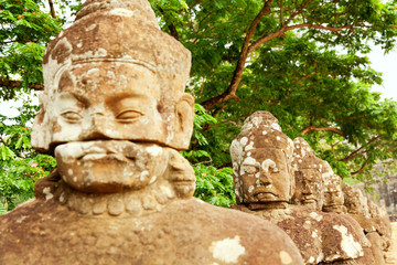 Faces in Bayon Temple, Angkor Wat, Cambodia