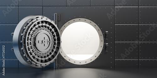 Open vaulted steel door - 77261312