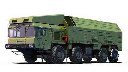 Coastal Missile System - Bastion. Clipping Path
