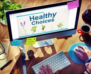 Herbal Medicine Healthy Choices Healthcare and Medicine Concept