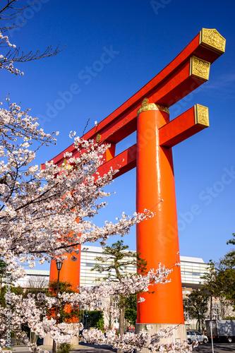 Papiers peints Japon Heian Torii Gate in Kyoto