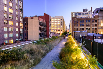 New York City in Manhattan on High Line Park