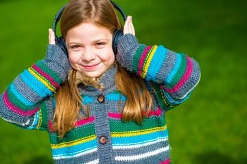Girl Enjoying the Music