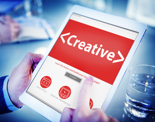 Digital Online Creative Development Innovation Office Concept