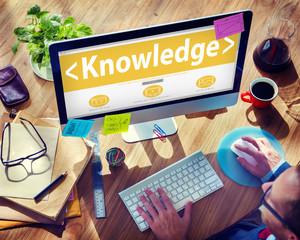 Digital Online Internet Knowledge Office Working Concept
