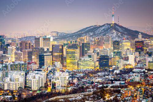 Poster Seoul, South Korea Skyline