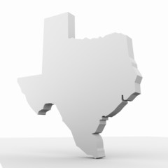 Texas 3D map Three-dimensional