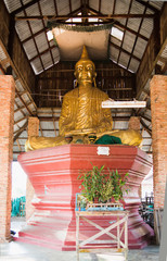 Buddha image in simple pavilion