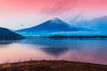 Mount Fuji at Kawakuchiko lake