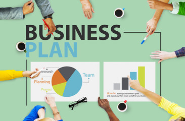 Business Plan Planning Strategy Meeting Conference Concept
