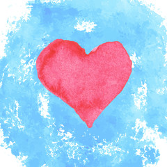 watercolor heart and stains