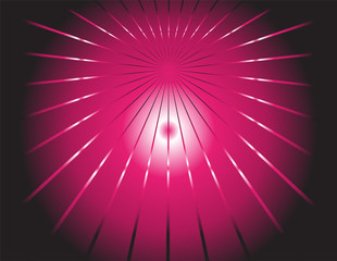 dark background and pink ray