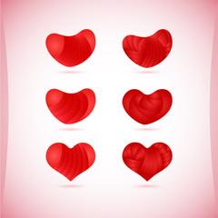 Set of Valentine's icons, design elements.