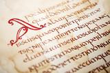 Handwritten excerpt from Bible
