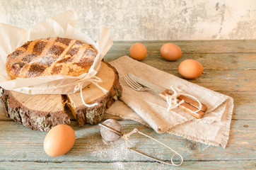 Neapolitan pie with wheat and ricotta