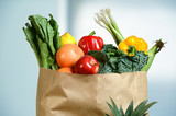 Fototapety Produce in Grocery Bag