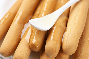 Honey breadsticks