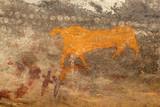 Bushmen rock painting of an antelope, Karoo region