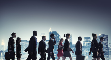 Business People New York Commuting Concept