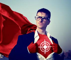 Target Strong Superhero Success Professional Aim Concept