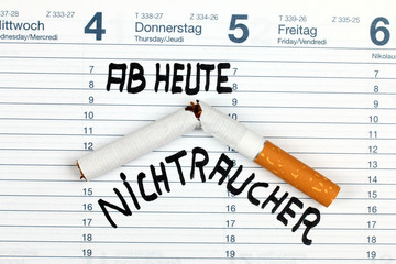 Ab heute Nichtraucher, im Kalender vermerkt