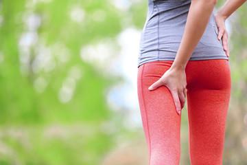 Hamstring sprain or cramps - Running sports injury