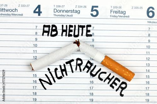 Leinwandbild Motiv Ab heute Nichtraucher, im Kalender vermerkt