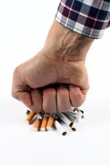 Mit dem Rauchen aufhören, Faust auf Zigaretten