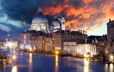 Venice - Grand Canal and Basilica Santa Maria della Salute