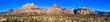 Leinwandbild Motiv Red Rock Canyon High Resolution Panorama