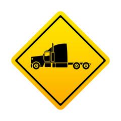 Señal amarilla camion lateral