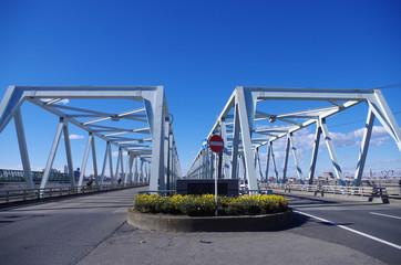 市川橋と花壇