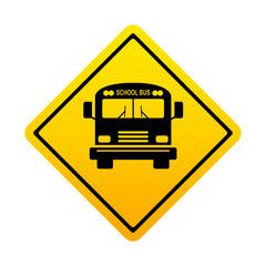 Señal amarilla school bus