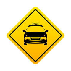 Señal amarilla taxi