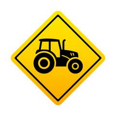 Señal amarilla tractor