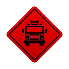 Señal roja camion de bomberos
